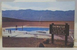 Badwater Basin Death Valley California Vintage Postcard