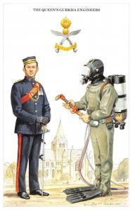 Postcard The British Army Series No.58 The Queen's Gurkha Engineers Geoff White