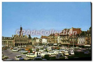 Old Postcard Saint Quentin Aisne Place of City Hotel
