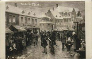 CPA AK Wiesbaden Andreas Markt GERMANY (1099436)
