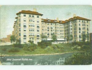 Unused Divided Back SOMERSET HOTEL Boston Massachusetts MA hr9515