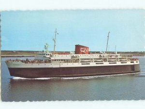 Pre-1980 CN CANADIAN NATIONAL BLUENOSE SHIP BOAT Yarmouth Nova Scotia NS AF3759