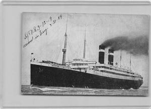 5045  S.S. Lapland Passenger Ship  arriving in England 3/21/19 Red Star Line