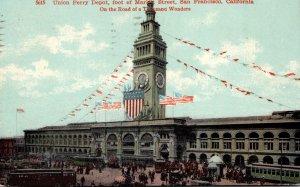 California San Francisco Union Ferry Depot 1910