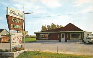Augres Michigan~Chop House Restaurant~US 23~1950s Postcard
