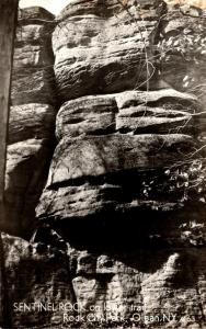 New York Olean Rock City Park Sentinel Rock On Lower Trail Real Photo