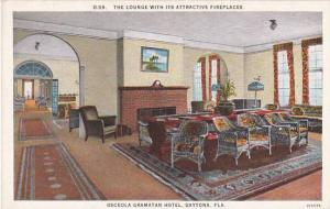 Florida Daytona The Lounge With Its Attractive Fireplaces