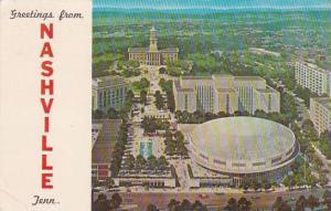 Tennessee Nashville Greetings From Nashville 1967