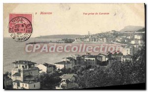 Old Postcard Menton Garavan View From Jack