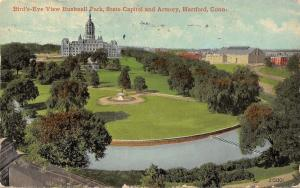 Hartford Connecticut~Birdseye View~Bushnell Park~State Capital~Armory~1913 PC