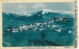 01927  CARTOLINA d'Epoca: L'AQUILA - MONTEREALE DEL'ABRUZZO