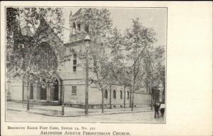 Brooklyn Eagle Postcard Series #322 c1905 Postcard ARLINGTON AVE CHURCH