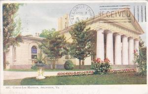 Virginia Arlington Custis Lee Mansion 1908