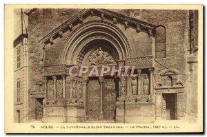 Old Postcard Arles La Cathedrale Saint Trophime portal