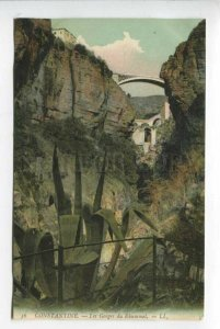 425827 ALGERIA CONSTANTINE Rhummel Gorges Vintage postcard