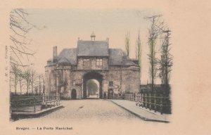 BRUGES, West Flanders, Belgium, 1900-1910's; La Porte Marechal
