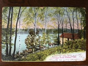 1907 California Lake Scene, Greetings form Fresno, CA e5