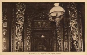 CPA Vietnam Indochine - Rachgia - Intérieur d'ine Pagode chinoise (85079)