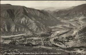Glenwood Springs CO Birdseye View SANBORN Real Photo Postcard