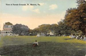 Monroe Virginia Parade Grounds Historic Bldgs Antique Postcard K20307