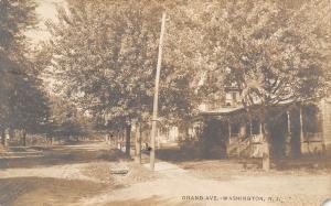 Washington NJ~Grand Avenue Homes~Dirt Road~Girl Black Doll? Sidewalk~1906 RPPC