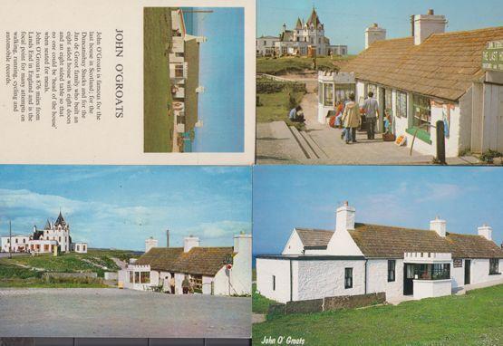 John O Groats Last House 4x 1980s Scottish Postcard s