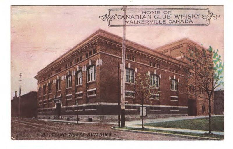HOME of CANADIAN CLUB WHISKEY WALKERVILLE ONTARIO CANADA VINTAGE c1930s POSTCARD