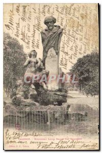 Postcard Old Valence (Drome) Monument Louis Gallet For Inzalbert