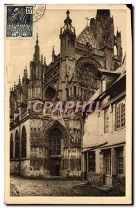 Old Postcard Normandy De Rouen Au Havre Caudebec-en-Caux Eglise Notre Dame