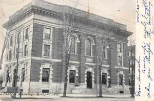 Lockport New York Federal Building Exterior View Antique Postcard J74720