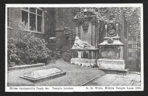 Oliver Goldsmith Tomb London England Unused c1910s