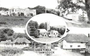 Vintage Real Photo Multi View Postcard, Greetings from Tawstock, Devon 18X