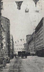SAN FRANCISCO, CA, 1909 ; Portola Bell 3rd & Market Streets