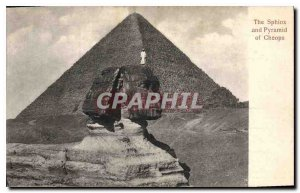 Postcard Ancient Egypt Egypt The pyramid of Cheops and tsphinx