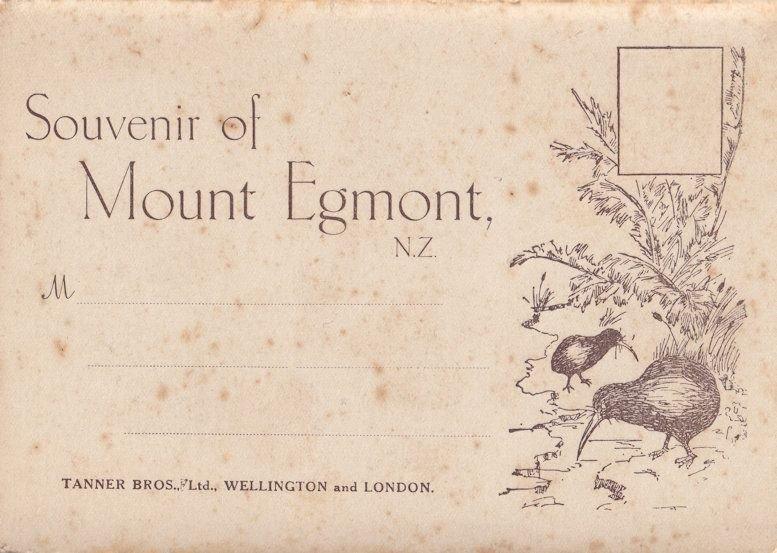 Souvenir Of Mount Egmont New Zealand Antique Folding Postcard Book