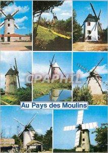 Modern Postcard the Land of Windmills