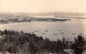 Mazatlan Mexico Birds Eye View Real Photo Antique Postcard J40094
