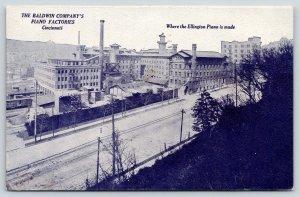 Cincinnati Ohio~Baldwin Factory~Ellington Piano~AL Hamilton Salesman Dayton~1914