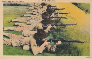 CAMP WOLTERS , Texas , 1930-40s ; at the rifle range