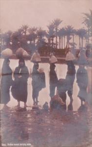 Egypt Cairo Arabian Women Carrying Water Real Photo