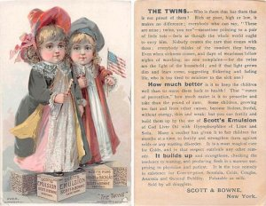 Victorian Trade Card Approx size inches = 3.25 x 5.25 Pre 1900 crease
