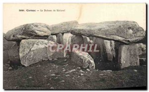 Old Postcard Dolmen Menhir Carnac The dolmende Keriaval