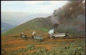 New Hampshire ~ Mt. Washington Cog Railway Trains meeting at Skyline Switch