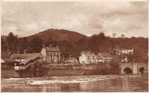 Wales Bridge and Station, Llangollen, bruecke pont