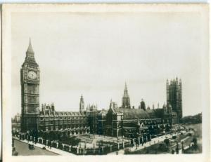 UK, London, Houses of Parliament, 1910s-20s Real Photo Snapshot