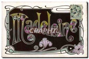 Old Postcard Fantaisie Surname Madeleine