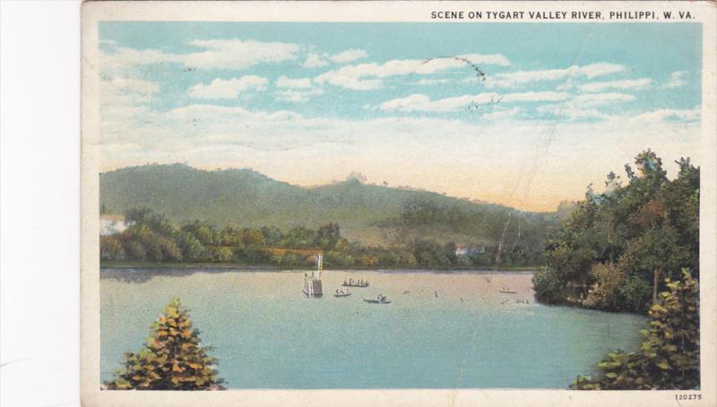 Scene On Tygart Valley River, Philippi, West Virginia, PU-1934