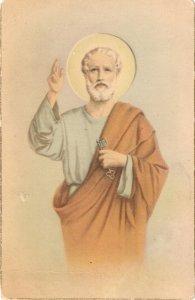 St. Peter. San Pedro Old vintage Spanish religious postcard