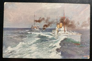 Mint Germany Color Picture Postcard PPC Torpedo-boat Sleipner