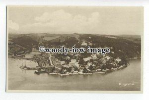 tq0984 - Early Aerial View of Kingswear, at the Mouth of River Dart - postcard